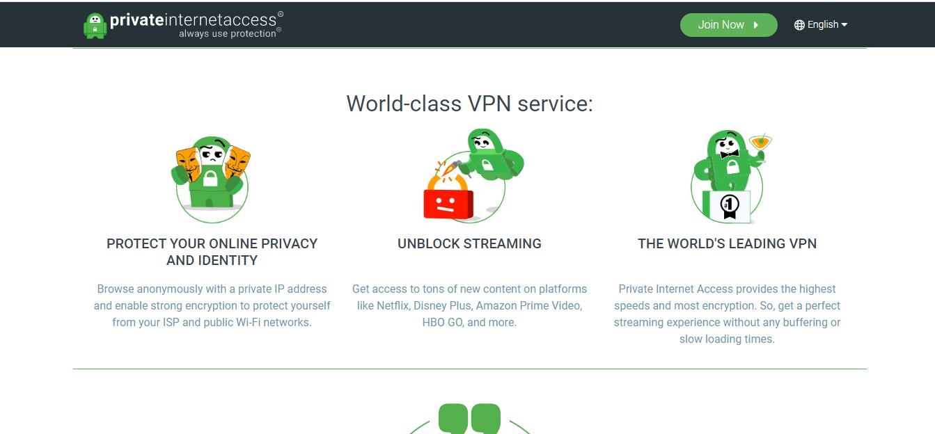 Servizio VPN di livello mondiale