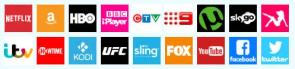 Il software VPN funziona con tutti i provider di streaming