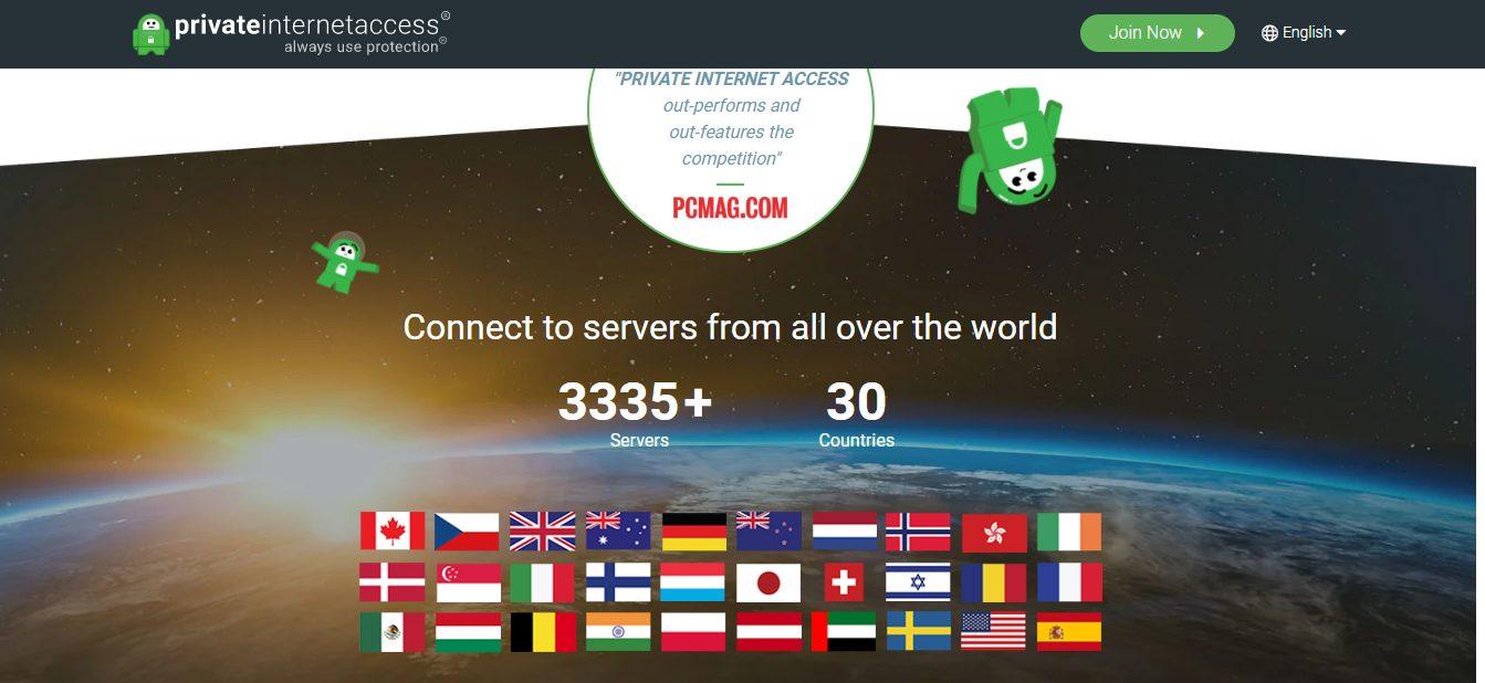 Accesso Privato a Internet gestisce oltre 3300 server in 30 sedi in tutto il mondo